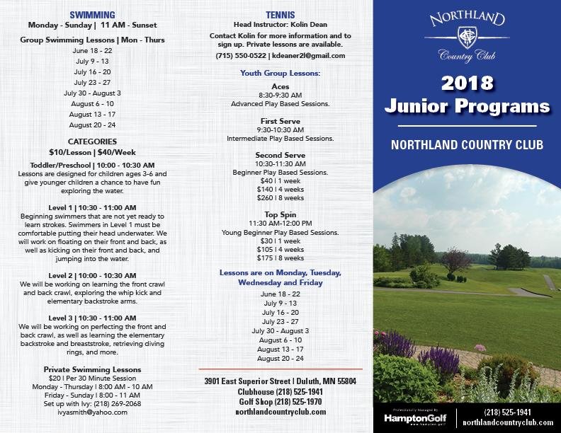NCC   2018 Junior Summer Programs BRCH