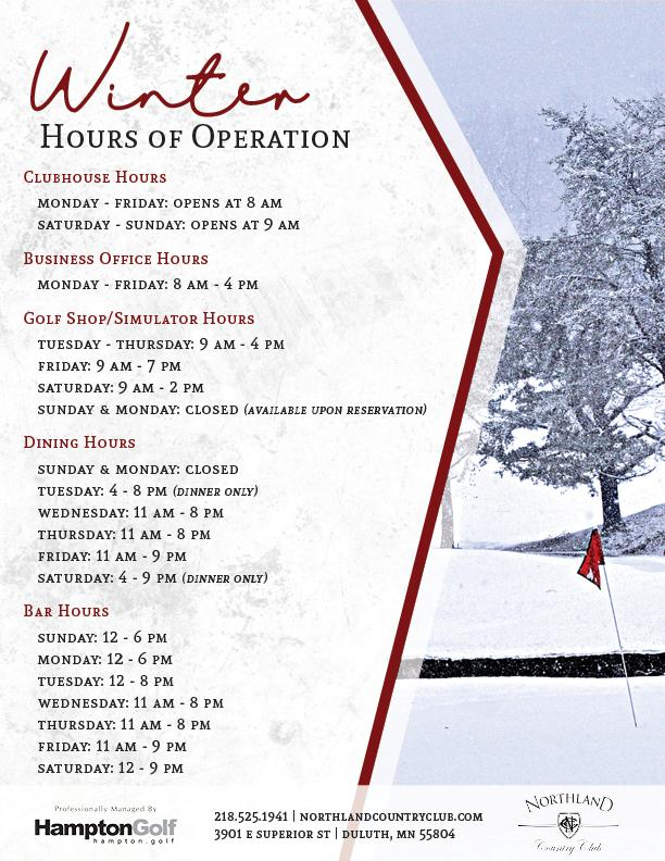 NCC Winter Hours EMAIL